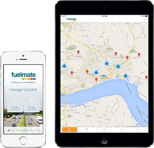 Fuelmate Garage Locator App